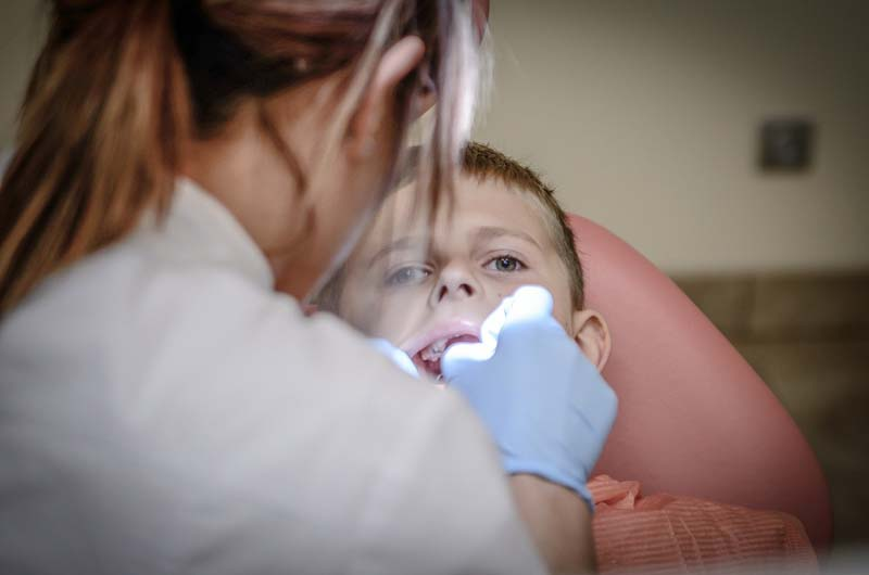 A boy visited dentist